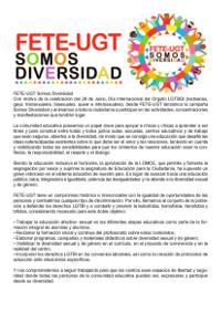 Manifiesto Somos Diversidad